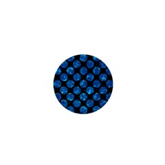 Circles2 Black Marble & Deep Blue Water 1  Mini Buttons by trendistuff