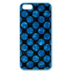 Circles2 Black Marble & Deep Blue Water Apple Seamless Iphone 5 Case (color) by trendistuff