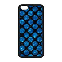 Circles2 Black Marble & Deep Blue Water Apple Iphone 5c Seamless Case (black) by trendistuff