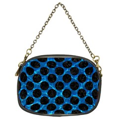 Circles2 Black Marble & Deep Blue Water (r) Chain Purses (two Sides)  by trendistuff
