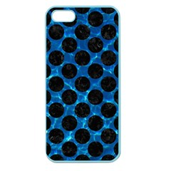 Circles2 Black Marble & Deep Blue Water (r) Apple Seamless Iphone 5 Case (color) by trendistuff