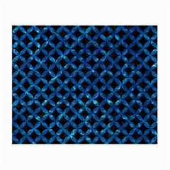 Circles3 Black Marble & Deep Blue Water Small Glasses Cloth (2 Side) by trendistuff
