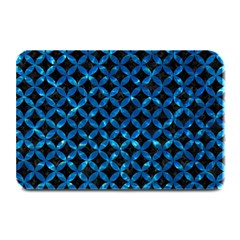 Circles3 Black Marble & Deep Blue Water Plate Mats by trendistuff