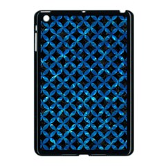Circles3 Black Marble & Deep Blue Water Apple Ipad Mini Case (black) by trendistuff