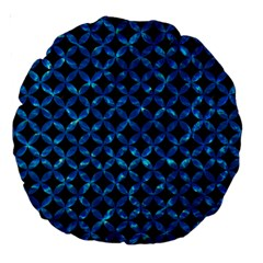 Circles3 Black Marble & Deep Blue Water Large 18  Premium Round Cushions by trendistuff