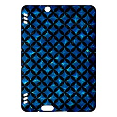 Circles3 Black Marble & Deep Blue Water (r) Kindle Fire Hdx Hardshell Case by trendistuff