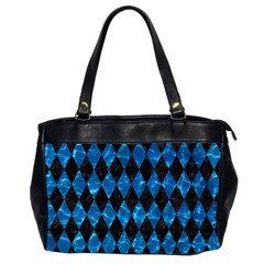 Diamond1 Black Marble & Deep Blue Water Office Handbags (2 Sides)  by trendistuff