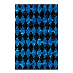 Diamond1 Black Marble & Deep Blue Water Shower Curtain 48  X 72  (small)  by trendistuff