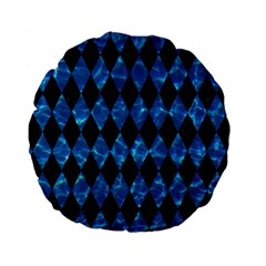 Diamond1 Black Marble & Deep Blue Water Standard 15  Premium Round Cushions by trendistuff