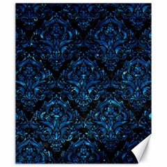 Damask1 Black Marble & Deep Blue Water Canvas 20  X 24   by trendistuff