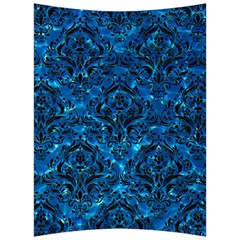 Damask1 Black Marble & Deep Blue Water (r) Back Support Cushion by trendistuff