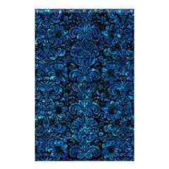 Damask2 Black Marble & Deep Blue Water Shower Curtain 48  X 72  (small)  by trendistuff