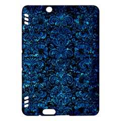 Damask2 Black Marble & Deep Blue Water Kindle Fire Hdx Hardshell Case by trendistuff