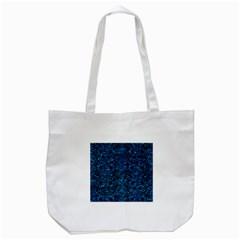 Damask2 Black Marble & Deep Blue Water Tote Bag (white) by trendistuff