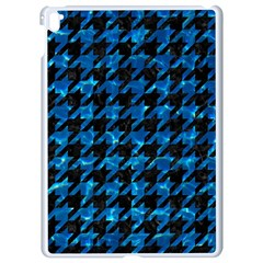 Houndstooth1 Black Marble & Deep Blue Water Apple Ipad Pro 9 7   White Seamless Case by trendistuff
