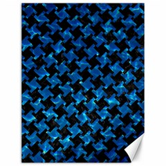 Houndstooth2 Black Marble & Deep Blue Water Canvas 12  X 16   by trendistuff