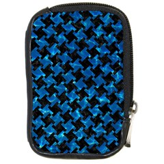 Houndstooth2 Black Marble & Deep Blue Water Compact Camera Cases by trendistuff