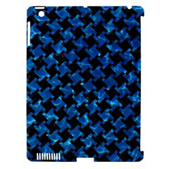 Houndstooth2 Black Marble & Deep Blue Water Apple Ipad 3/4 Hardshell Case (compatible With Smart Cover) by trendistuff
