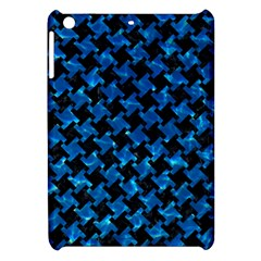 Houndstooth2 Black Marble & Deep Blue Water Apple Ipad Mini Hardshell Case by trendistuff