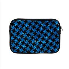 Houndstooth2 Black Marble & Deep Blue Water Apple Macbook Pro 15  Zipper Case by trendistuff