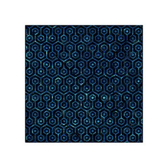 Hexagon1 Black Marble & Deep Blue Water Acrylic Tangram Puzzle (4  X 4 ) by trendistuff