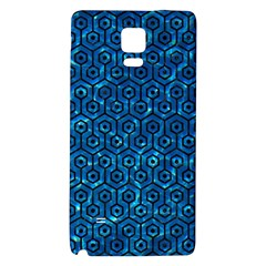 Hexagon1 Black Marble & Deep Blue Water (r) Galaxy Note 4 Back Case by trendistuff
