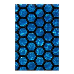 Hexagon2 Black Marble & Deep Blue Water (r) Shower Curtain 48  X 72  (small)  by trendistuff