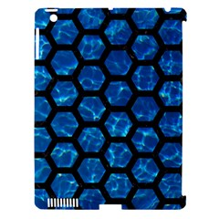 Hexagon2 Black Marble & Deep Blue Water (r) Apple Ipad 3/4 Hardshell Case (compatible With Smart Cover) by trendistuff