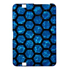 Hexagon2 Black Marble & Deep Blue Water (r) Kindle Fire Hd 8 9  by trendistuff