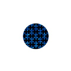 Puzzle1 Black Marble & Deep Blue Water 1  Mini Buttons by trendistuff