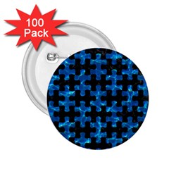 Puzzle1 Black Marble & Deep Blue Water 2 25  Buttons (100 Pack)