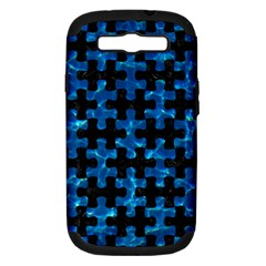 Puzzle1 Black Marble & Deep Blue Water Samsung Galaxy S Iii Hardshell Case (pc+silicone) by trendistuff