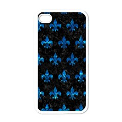 Royal1 Black Marble & Deep Blue Water (r) Apple Iphone 4 Case (white) by trendistuff
