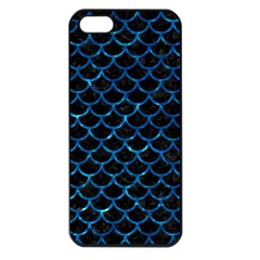 Scales1 Black Marble & Deep Blue Water Apple Iphone 5 Seamless Case (black) by trendistuff