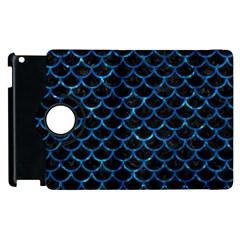 Scales1 Black Marble & Deep Blue Water Apple Ipad 2 Flip 360 Case by trendistuff