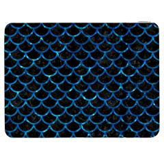 Scales1 Black Marble & Deep Blue Water Samsung Galaxy Tab 7  P1000 Flip Case by trendistuff