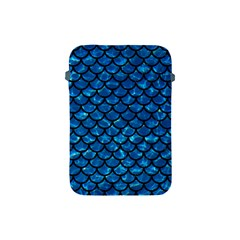 Scales1 Black Marble & Deep Blue Water (r) Apple Ipad Mini Protective Soft Cases by trendistuff