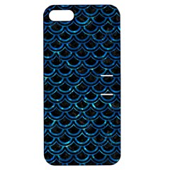 Scales2 Black Marble & Deep Blue Waterck Marble & Deep Blue Water Apple Iphone 5 Hardshell Case With Stand by trendistuff