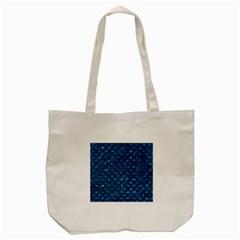 Scales2 Black Marble & Deep Blue Water (r) Tote Bag (cream) by trendistuff