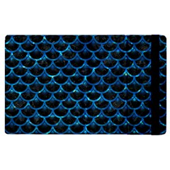 Scales3 Black Marble & Deep Blue Water Apple Ipad 2 Flip Case by trendistuff