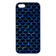 Scales3 Black Marble & Deep Blue Water Apple Iphone 5 Premium Hardshell Case by trendistuff