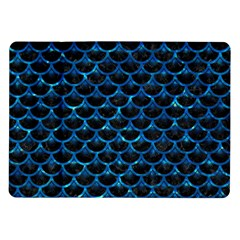 Scales3 Black Marble & Deep Blue Water Samsung Galaxy Tab 10 1  P7500 Flip Case by trendistuff