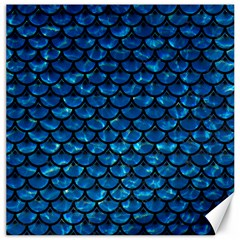 Scales3 Black Marble & Deep Blue Water (r) Canvas 16  X 16   by trendistuff