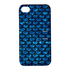Scales3 Black Marble & Deep Blue Water (r) Apple Iphone 4/4s Hardshell Case With Stand by trendistuff