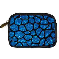 Skin1 Black Marble & Deep Blue Water Digital Camera Cases by trendistuff