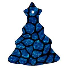 Skin1 Black Marble & Deep Blue Water Ornament (christmas Tree)  by trendistuff