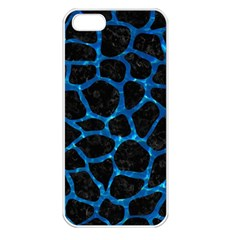 Skin1 Black Marble & Deep Blue Water (r) Apple Iphone 5 Seamless Case (white) by trendistuff