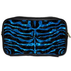 Skin2 Black Marble & Deep Blue Water Toiletries Bags 2 Side by trendistuff
