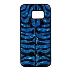 Skin2 Black Marble & Deep Blue Water (r) Samsung Galaxy S7 Black Seamless Case by trendistuff