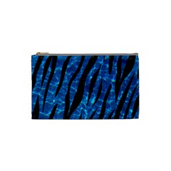 Skin3 Black Marble & Deep Blue Water (r) Cosmetic Bag (small)  by trendistuff